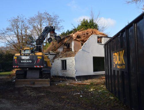 Sloop huis en uitgraven bouwput
